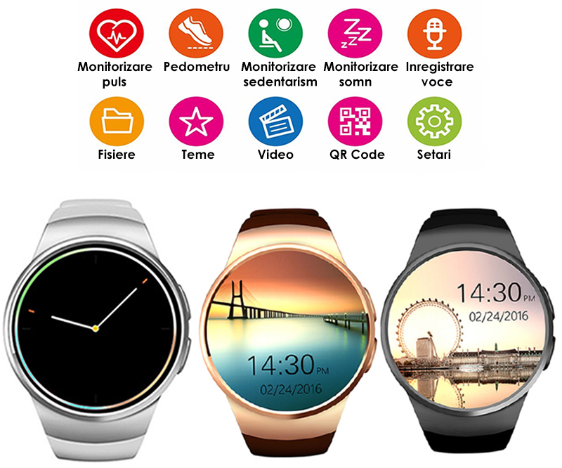 ceas smartwatch telefon si notificari-2